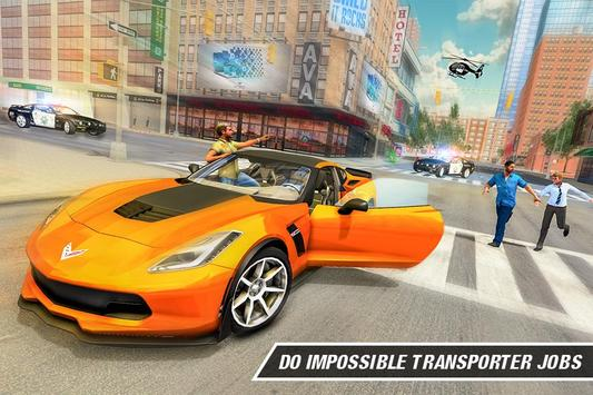 Crime Driving Car Transporter – Free plane games poster