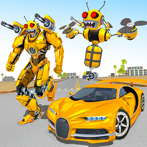 Download Bee Robot Car Transformation Game: Robot Car Games For Android