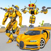 Bee Robot Car Transformation Game: Robot Car Games