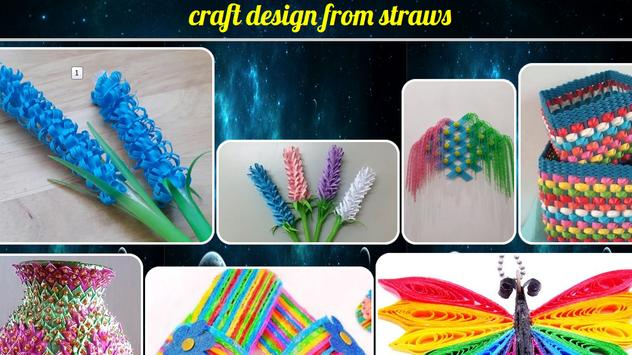 craft designs from straws poster