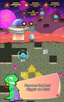 Digger Battle for Mars & Gems screenshot 1