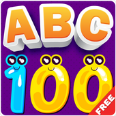 Learn Numbers 1 to 100, Alphabet, Tracing & games 圖標