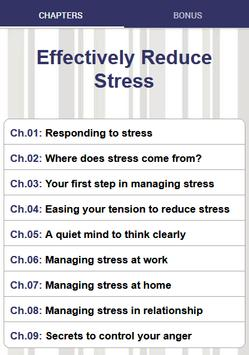 Stress Management - Effectively Reduce Stress poster
