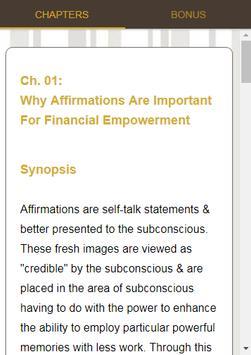 Millionaire Affirmations Course screenshot 13