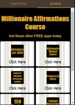 Millionaire Affirmations Course screenshot 5