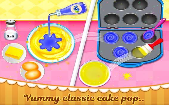 Rainbow Cake Pop Maker - Dessert Food Cooking Game screenshot 4