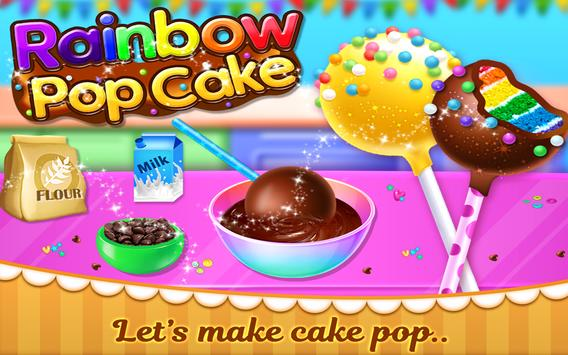 Rainbow Cake Pop Maker - Dessert Food Cooking Game poster
