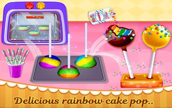 Rainbow Cake Pop Maker - Dessert Food Cooking Game screenshot 2