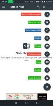 1 Schermata Crea note personali: blocco note note e promemoria