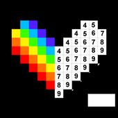 数字で塗り絵スケッチブック -  No.Draw アイコン