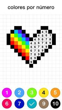 Páginas para colorear por números - No.Draw captura de pantalla 2