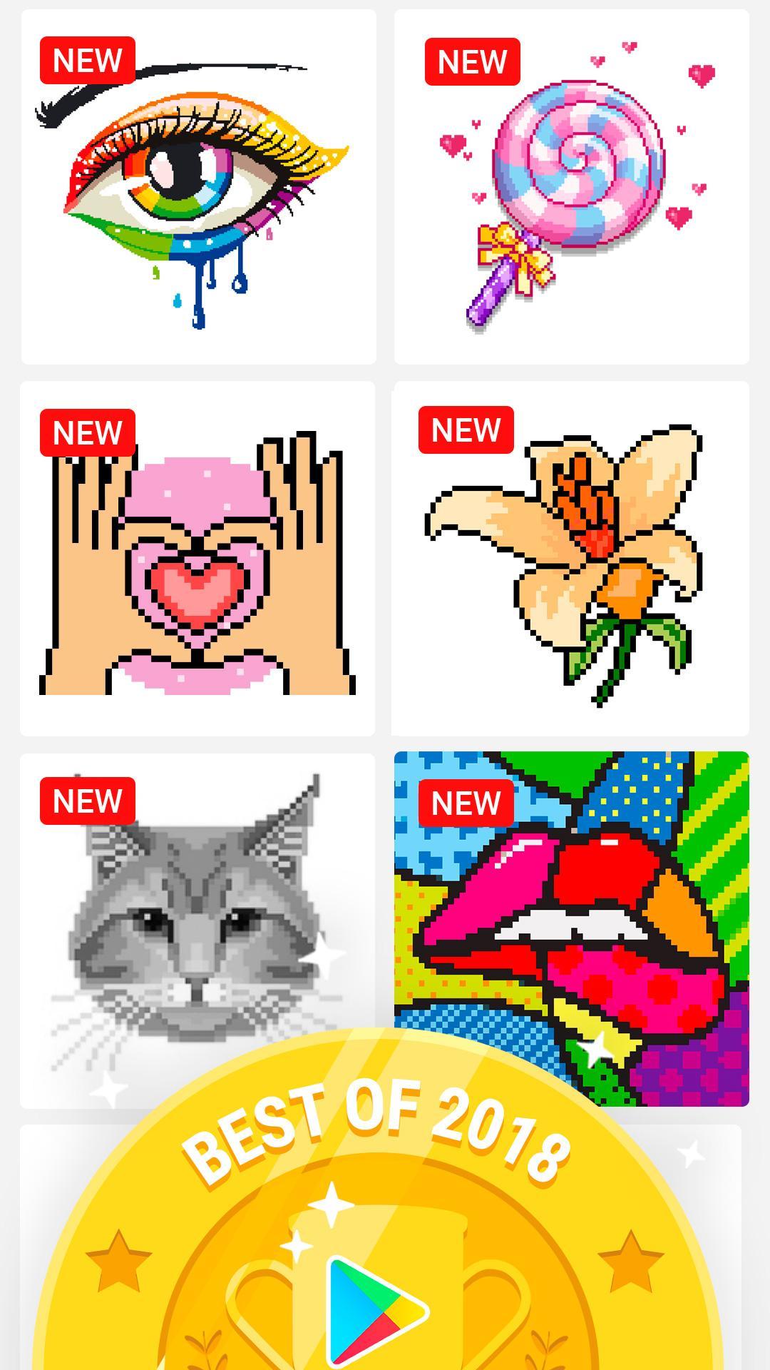 раскраски по номерам No Draw для андроид скачать Apk