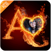 Fire Text Photo Frame icon