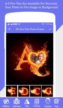 Fire Text Photo Frame poster