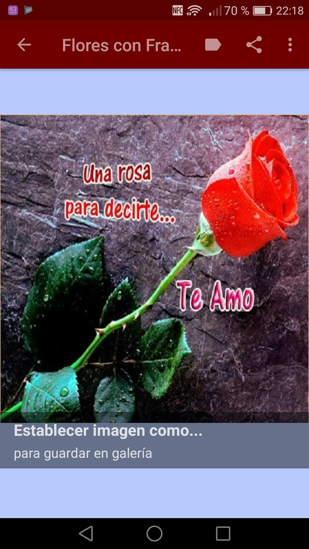 Flores Con Frases De Amor For Android Apk Download