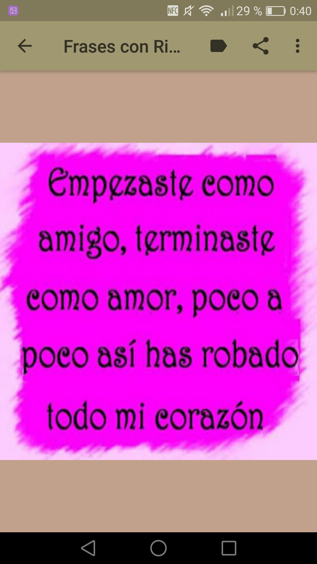 Frases Con Rimas De Amor для андроид скачать Apk