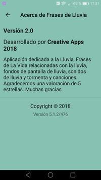 Frases de LLuvia - Sonidos de Lluvia y Truenos screenshot 1