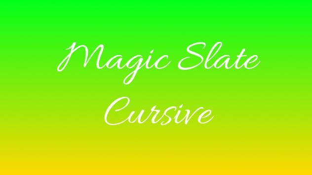 Magic Slate - Cursive poster