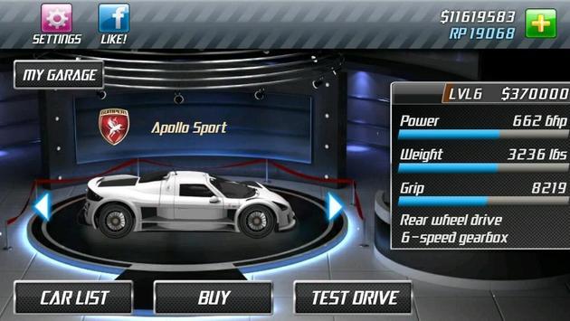 Drag Racing captura de pantalla 2