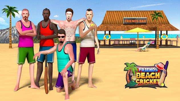 Friends Beach Cricket poster
