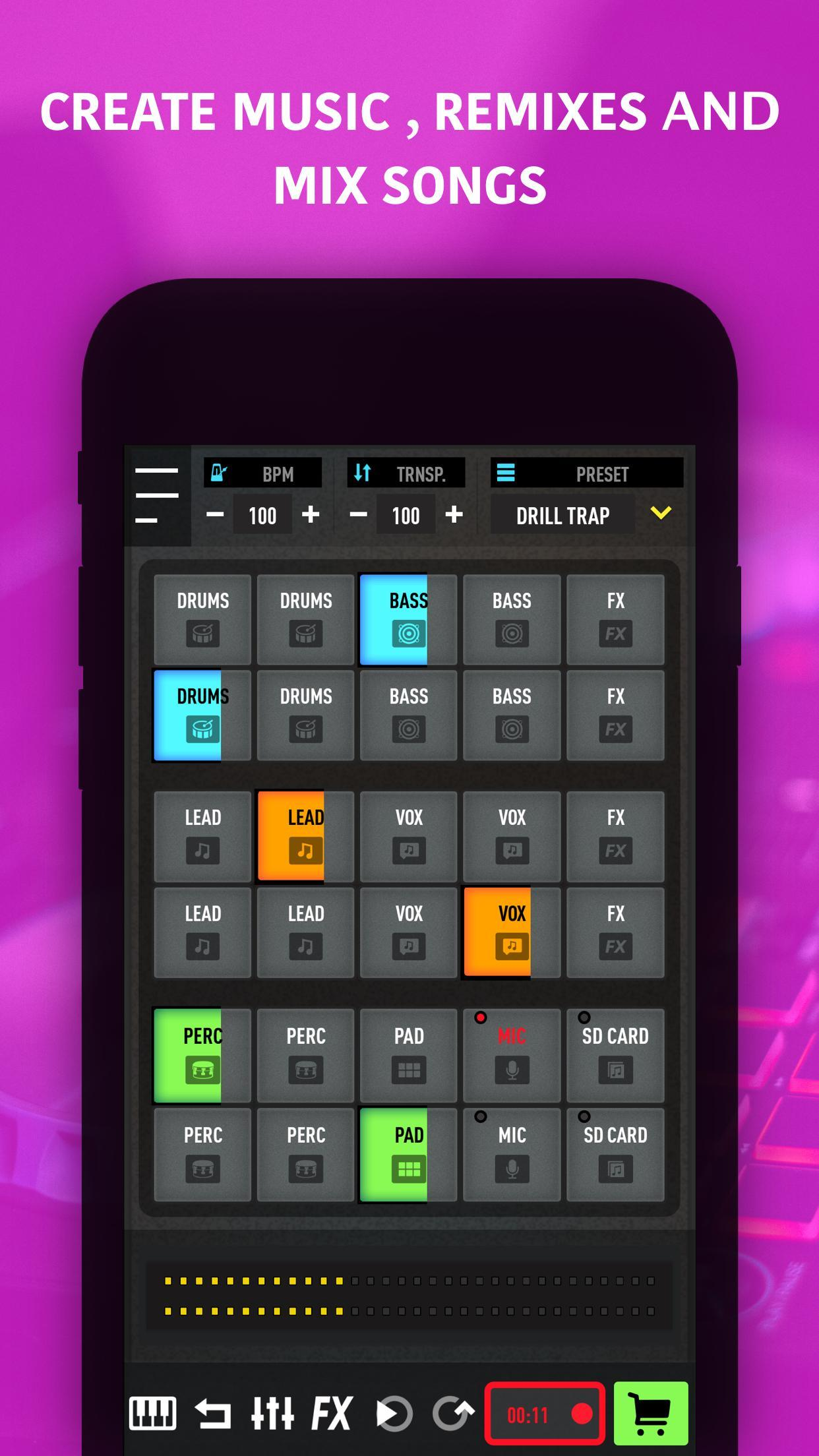 MixPads - Drum pad machine & DJ Audio Mixer for Android