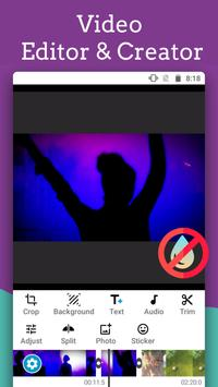 Video Editor - Text auf Video mit Audio Plakat