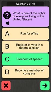 US Citizenship Test 2019 Audio screenshot 1
