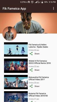 Fik Fameica Music App - Uganda Fresh Bwoy poster