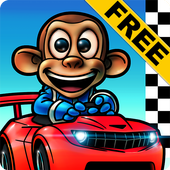 Monkey Racing Free أيقونة