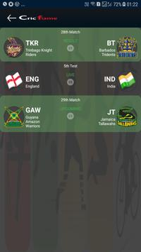 Cricflame Live Cricket Line screenshot 1