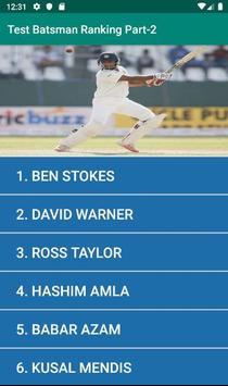 Test Batsman Ranking Part-2 poster
