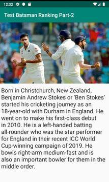 Test Batsman Ranking Part-2 screenshot 1