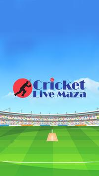 Cricket live maza poster