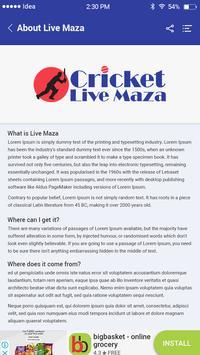 Cricket live maza screenshot 7