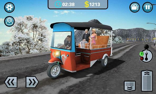 Hill Climb 3D- Tuk Auto Rickshaw Game screenshot 3