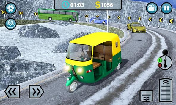 Hill Climb 3D- Tuk Auto Rickshaw Game poster