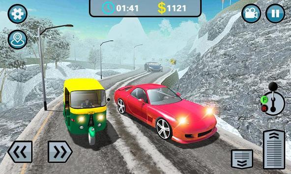 Hill Climb 3D- Tuk Auto Rickshaw Game screenshot 1