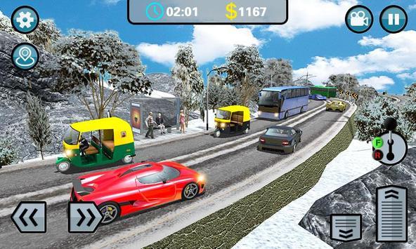 Hill Climb 3D- Tuk Auto Rickshaw Game screenshot 2