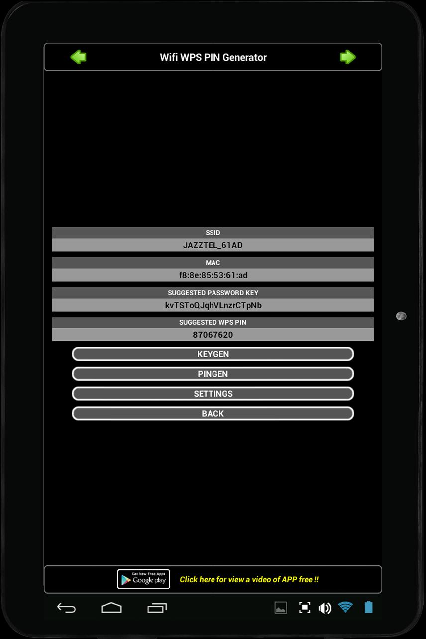 WIFI WPS PIN GENERATOR for Android - APK Download