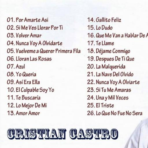 Cristian Castro Mp3 for Android - APK Download