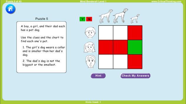 Mind Benders® Level 1 (Free) screenshot 3