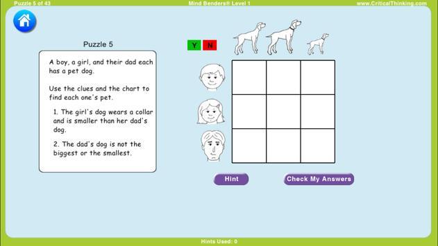 Mind Benders® Level 1 (Free) screenshot 1