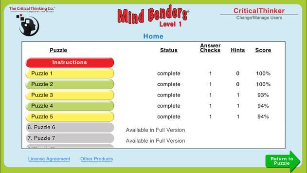 Mind Benders® Level 1 (Free) screenshot 4