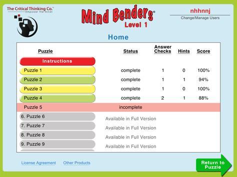 Mind Benders® Level 1 (Free) screenshot 9
