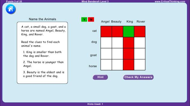 Mind Benders® Level 3 (Free) screenshot 3