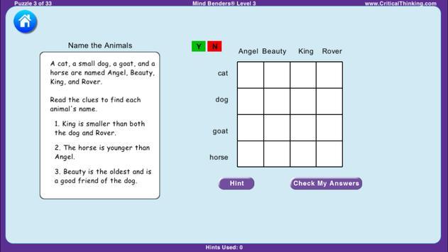 Mind Benders® Level 3 (Free) screenshot 1