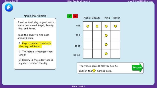 Mind Benders® Level 3 (Free) screenshot 2