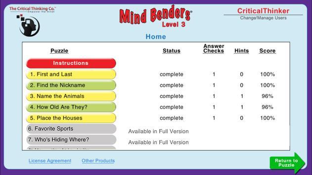 Mind Benders® Level 3 (Free) screenshot 4