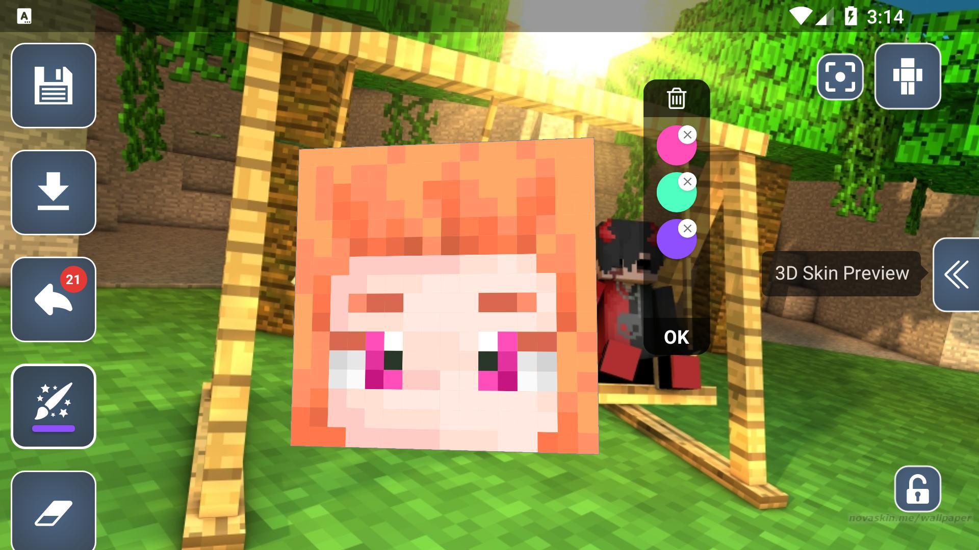 HD Skins Editor for Minecraft PE(11x11) para Android - APK Baixar