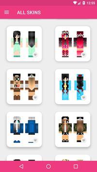Skins Chicas para Minecraft PE captura de pantalla 22